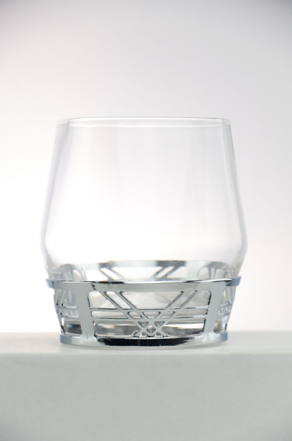Mortlach Whisky Tumbler, mit Silberrand